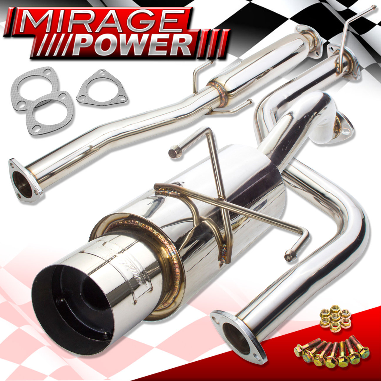 """3"""" N1 Turbo Piping Catback Exhaust For 94-01 Acura Integra"""