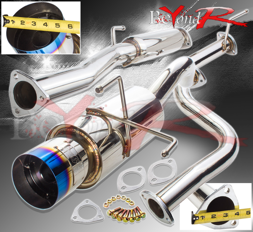 "4.5/""MUFFLER BURNT TIP CATBACK CAT BACK EXHAUST 92-95 HONDA CIVIC 3-DR HB EH2//EH3"