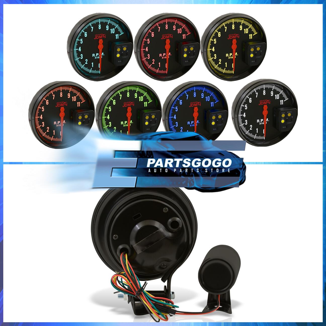 "Jdm 5"" Black Tachometer 11K Rpm Speedometer Gauge + Shift Light Integra  Civic"