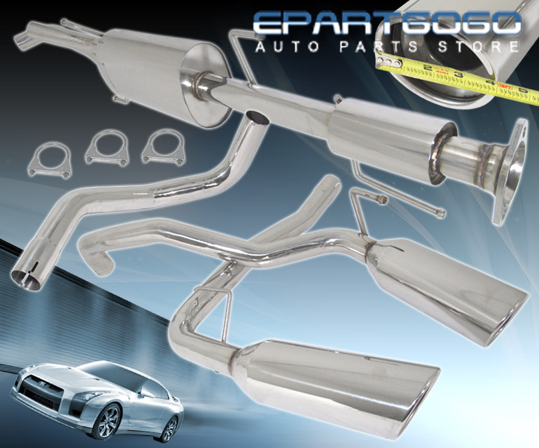 For 2007-2014 Toyota Fj Cruiser 4.0L Dual Stainless Steel Catback Exhaust System