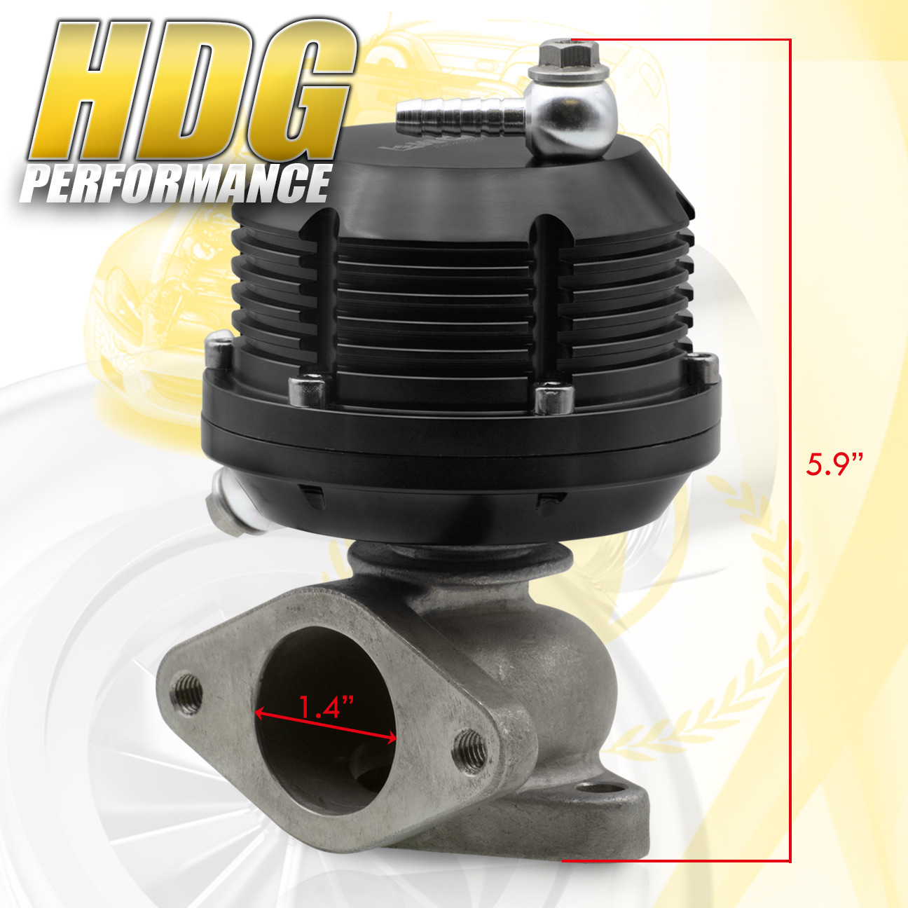 Universal Super Ribbed Aluminum Adjustable 38mm External Turbo ...