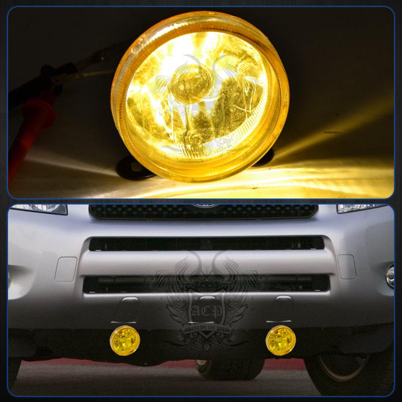 Universal 3 5 U0026quot  Round Glass Yellow Fog Lights Lamps Unit