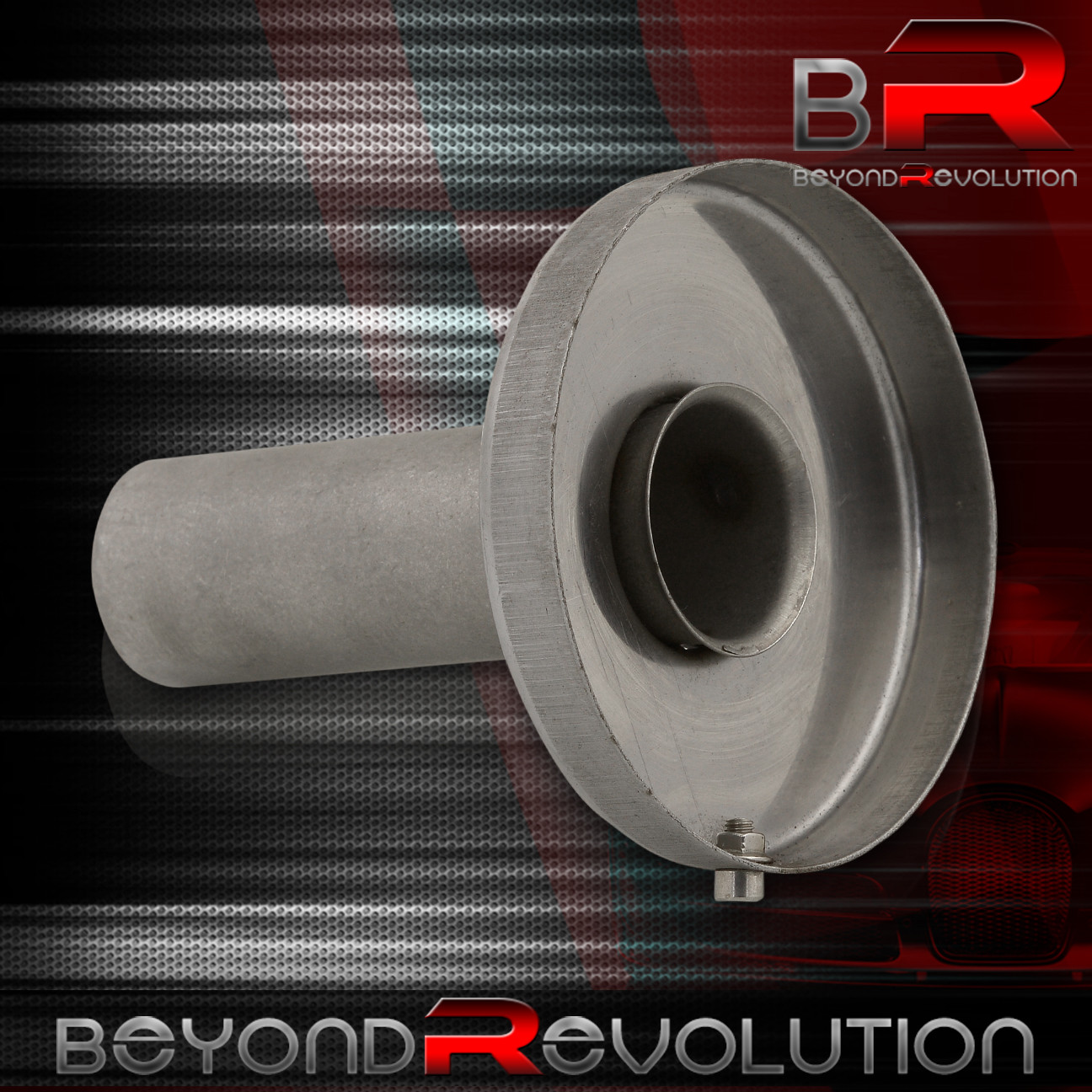 Universal Catback Cat Back Muffler Exhaust Removeable Adjustable Silencer Reducer 4.5 Stainless Steel Tip