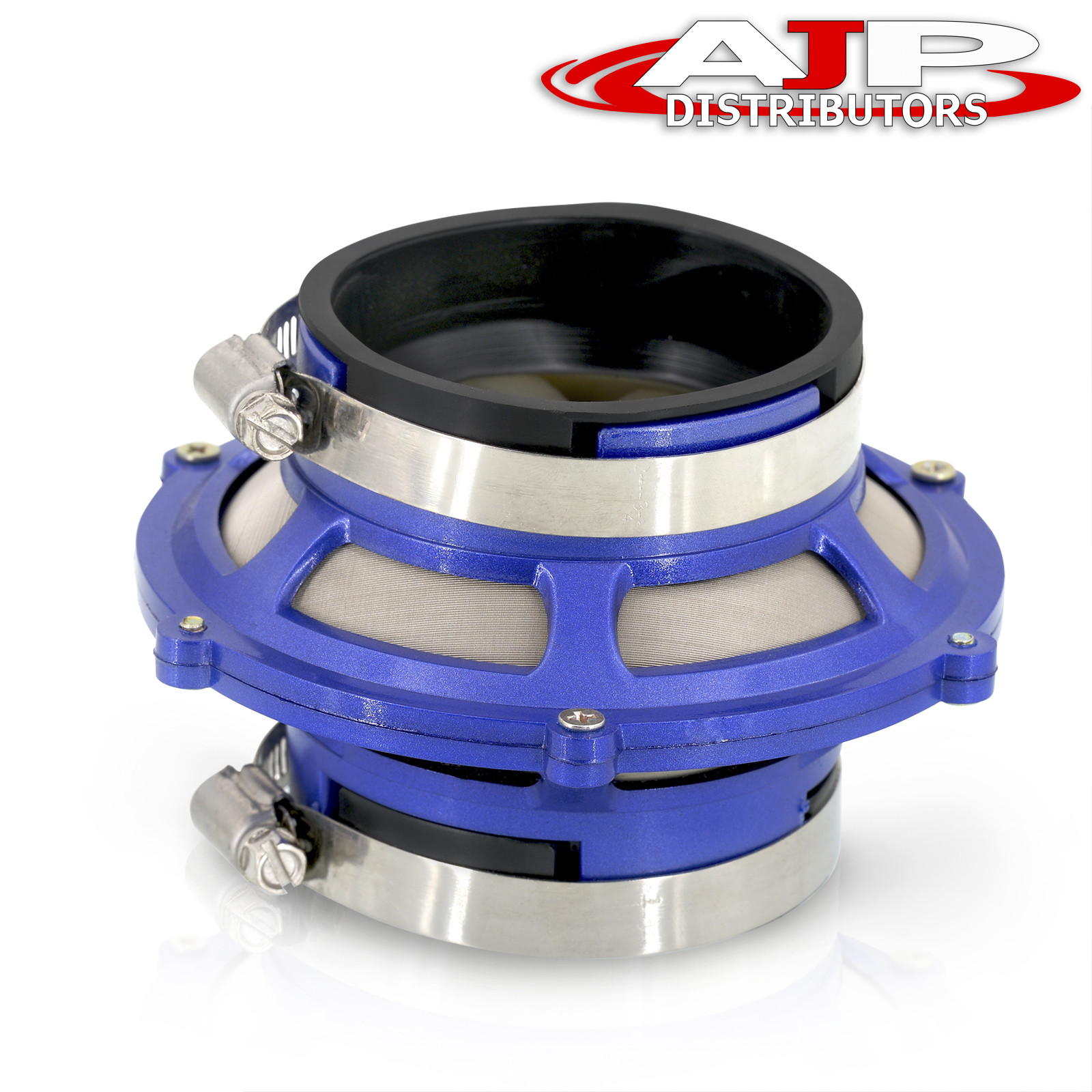 """Universal 3/""""Inch 76Mm Turbo//Cold Air Intake Performance Bypass Valve Filter Blue"""