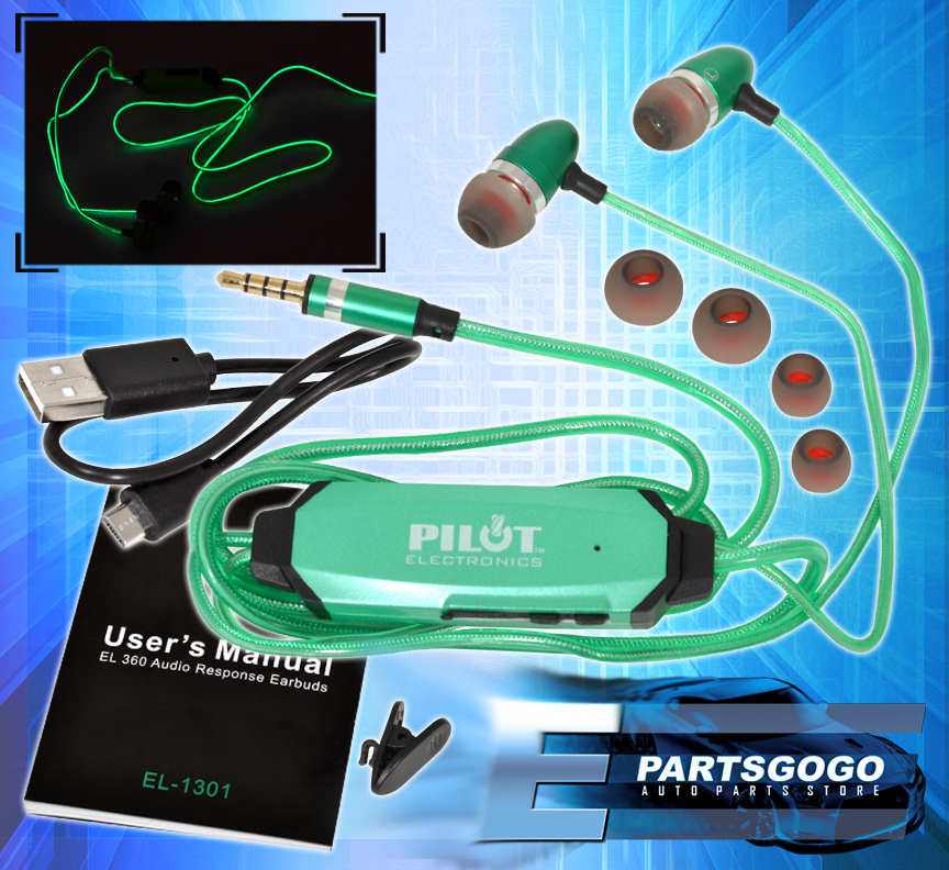Earbuds with microphone green - earbuds with microphone bass boost